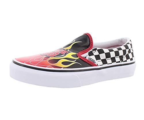 Vans Kids' Classic Slip-On - K (12, Race Flame Black Racing Red Wh)