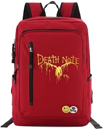 Death Note - Mochila escolar Death Note, mochila de viaje, mochila escolar para el uso diario (10,16 pulgadas)