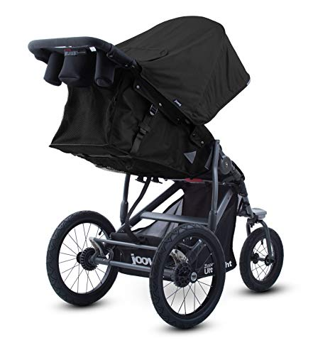 Joovy Zoom 360 Ultralight Jogging Stroller, Large Canopy, Lightweight Jogger, Extra Large Air Filled Tires, Black