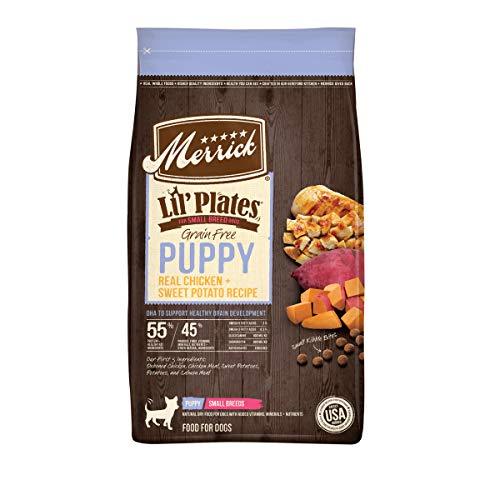 Merrick Lil' Plates Grain Free Small Breed Dry Dog Food Puppy Real Chicken + Sweet Potato Recipe - 12.0 lb Bag