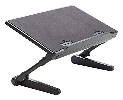 Tragbaren Laptop-Bett, Tisch, Schreibtisch Klappablageständer mit einstellbaren Multi-Winkel Unterschiedlicher Höhe Beine Maus Plate und USB-Kühlventilatoren for Schlafcouch Sofa Stock (Kunststoff)