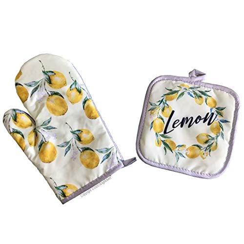 Oven Mitts Lemon