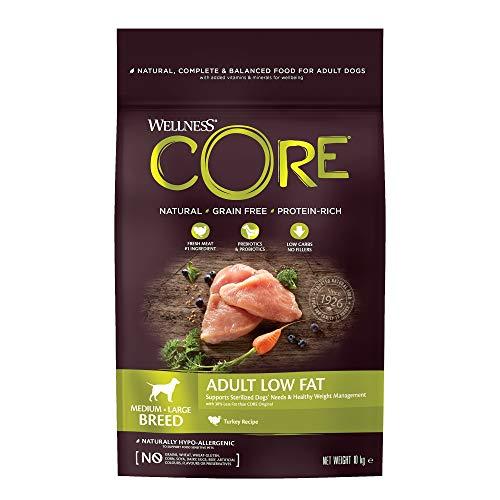 Wellness CORE Healthy Weight / Low Fat, Hundefutter Trocken, getreidefrei, hoher Fleischanteil, reduzierter Fettgehalt - Pute,10 kg