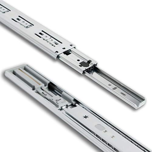 "TOUCH TCH-22201 Series 45mm Soft Close Ball Bearing Drawer Slides Side Mount Rail Runners (12"" 300MM, 1 Pair)"