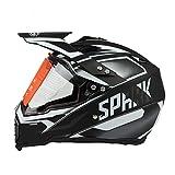 Woljay Dual Sport Off Road Motorcycle helmet Dirt Bike ATV D.O.T certified Silver
