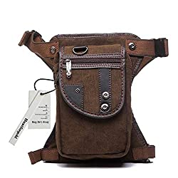 Huntforgold Multifunction Leg Bag Waist Pack Tactical Military Thigh Pouch Leg Bag Brown for Bicycle Motorcycle Mountain Bike