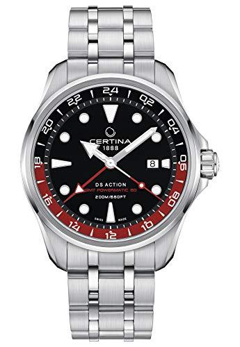 Certina DS Action GMT Powermatic 80 C032.429.11.051.00 Armbanduhr, Stahl