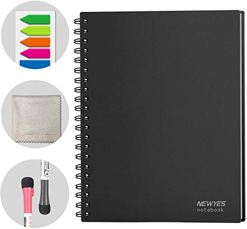 NEWYES Whiteboard Notebook Meeting Notebook Everlasting Dry Erase Board Letter Size