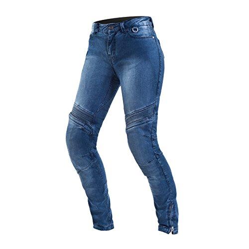 SHIMA JESS BLUE, Modern Jeans mit Protector Classic Slim Duralid Motorradhose für Frauen (26 Lang, Blau)