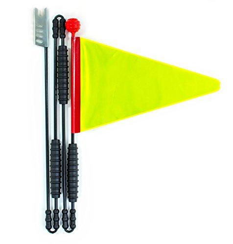 Cycley | Fahrradwimpel | Fahrradfahne für Kinderfahrrad | neon reflektierend | 4-teilig | Wimpellänge 160 cm | z.B. Sicherheitswimpel für Laufrad