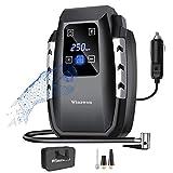 Winzwon Compressore Portatile per Auto, Mini Pompa Elettrica 12V 150PSI con Touchscreen Digitale a LED per Pompa di Pneumatici con Cavo Lungo per Auto, Bici, Moto, Palla