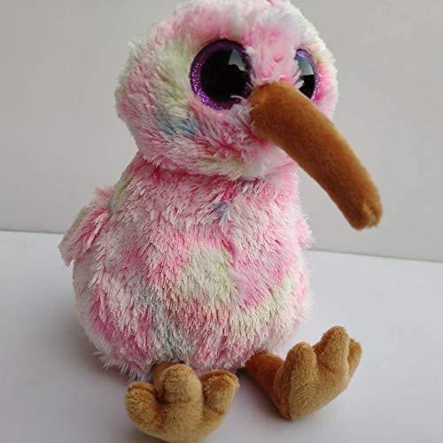 JIAL Plüsch weiche Kiwi-Vogel-Spielzeug-Puppe, gefüllte großäugige Tiere Kissen, Baby schlafende Puppe, Geburtstag für Kinder 15cm Chongxiang