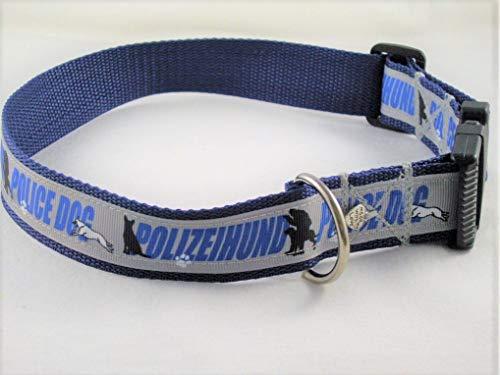"""Halsband""""Polizeihund"""" bis 55 cm Halsumfang"""