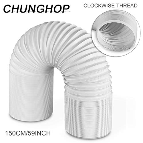 """CHUNGHOP Air Conditioner Hose Portable Exhaust Vent Pipe with 5.9"""" Diameter (15cm)- Length up to 59 inch (150cm) Great for LG Delonghi More Portable Air Conditioners Stop Leaks/Save Energy"""
