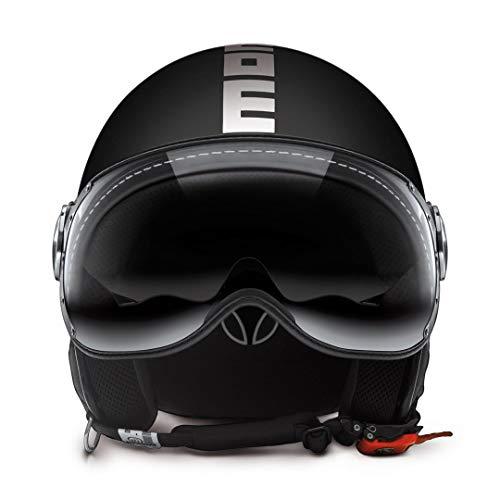 MOMO Design Herren 10010030035 Helmet, Nero OPACO/Bianco, ML (58)