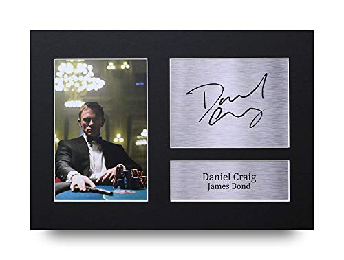 HWC Trading Daniel Craig A4 Ungerahmt Signiert Gedruckt Autogramme Bild Druck-Fotoanzeige Geschenk Für James Bond 007 Filmfans
