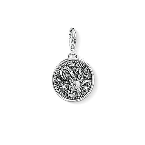 Thomas Sabo Damen Herren-Charm-Anhänger Sternzeichen Steinbock Charm Club 925 Sterling Silber 1649-643-21