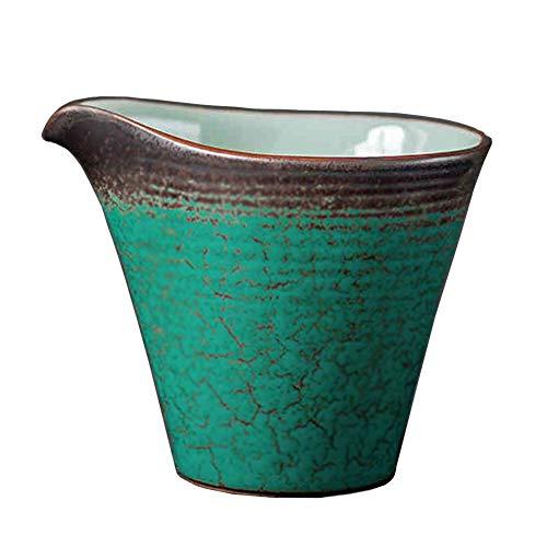 6Oz Creamer Glas Melk Pitcher met Handvat Keramische Pauw Groene Koffie Serveerschaal voor Saus Esdoorn Siroop in Keuken Tafel