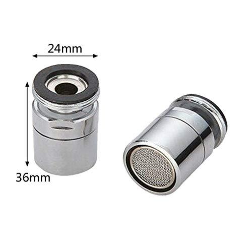 Grifo giratorio 360° a prueba de salpicaduras, aireador para grifo de cocina y baño, rociador giratorio M24, filtro de ahorro de agua, Beige