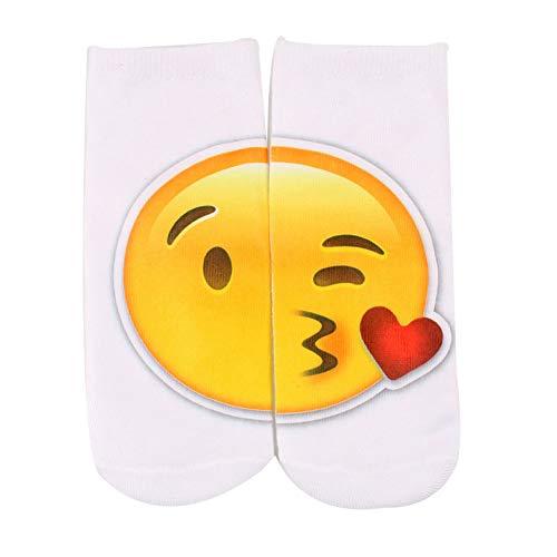 Angoter Emoji Socken Emoticons Smileys Smiling Face Socken Cotton Midi-Strümpfe
