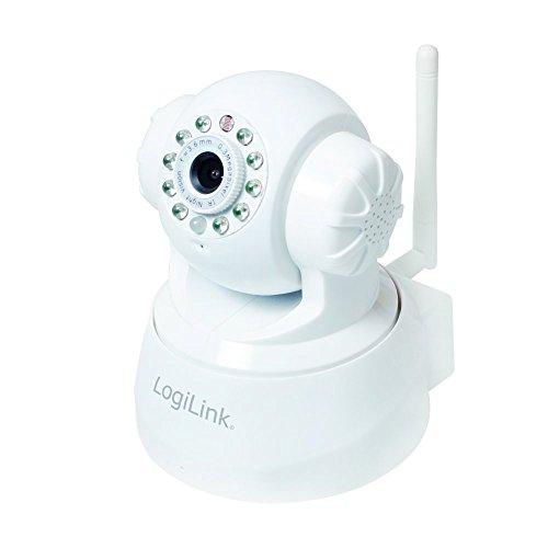 LogiLink WC0030W WLAN Indoor Pan-Tilt IP Kamera mit Nachtsicht, Bewegungsmelder & 2-Way Audio, Weiß