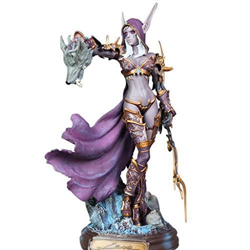 Luludp Modelo de personaje de anime Modelo de Anime Personaje de World of Warcraft Personajes de Sylvana Estatua Modelo Decoración Arte Regalos Creativo Decoración del hogar Joven Recuerdo Escultura O