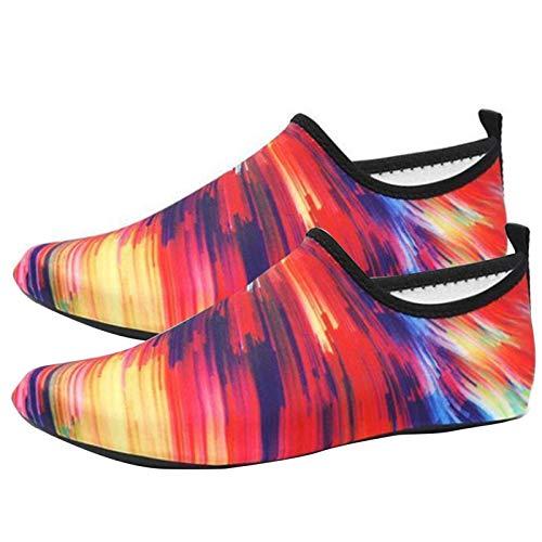 POHOVE Zapatos de agua descalzos de secado rápido Aqua Yoga Calcetines Playa Natación Surf Zapatos para Yoga Playa Deportes Natación Surf Deporte Agua Slip-on para Mujeres y Hombres Niños