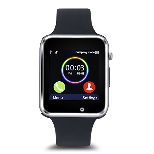 Bluetooth Uhr Armbanduhr wasserdichtes Trainings Telefonuhr Sport intelligentes für Android & iOS Smartphones