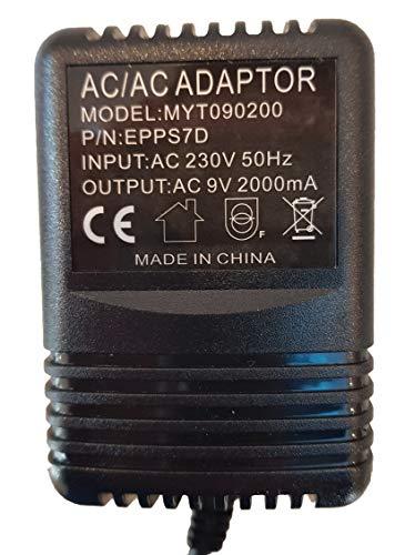 Reemplazo de la fuente de alimentación para Digitech Rp12 Efectos Pedal Adaptador Reino Unido 9V 4 Pin Din