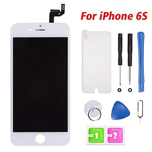 Hoonyer Für iPhone 6S Display, Weiß LCD Touchscreen Digitizer Display Rahmen Ersatz Bildschirm, Mit Komplettes Ersatzbildschirm Werkzeug