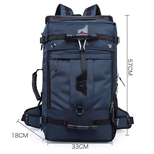 ASDFGHJKL 50L Hiking Backpack Waterproof Travel Knapsack, Men Women Trekking Rucksack, for Picnic Camping Mountaineering Climbing,Blue