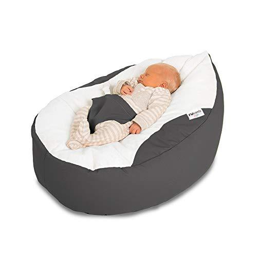 Grey Bambeano/® Baby Bean Bag Support Chair Cotton Baby Bean Bag Chair for 0-6 months