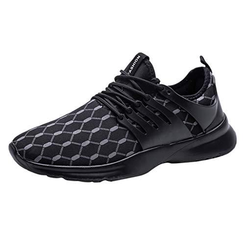 Laufschuhe Herren Breathable Männer Low-Top Sneaker Shock Absorbing Turnschuhe Sportschuhe Ultraleicht Fitnessschuhe Hallenschuhe