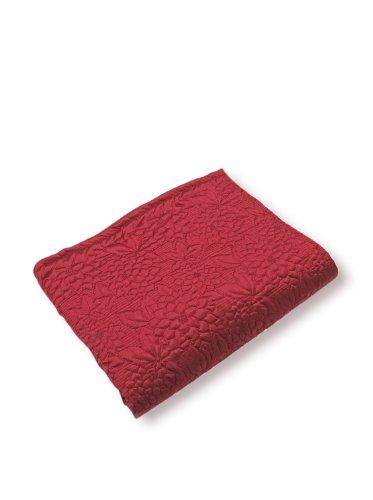 Stylemaster Gardenia Gesteppte Tagesdecke aus Twill und Birke für Doppelbett, Beige Twin burgunderfarben