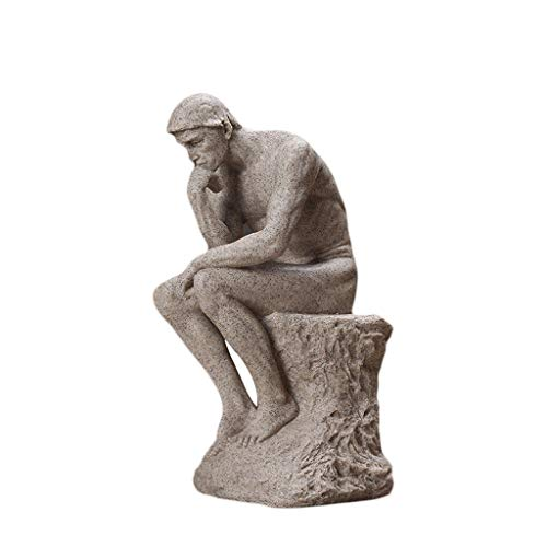 Ornaments XM Crafts Thinker Creative Decoration Character Statue Home Study Room Living Room Simple Modern Decoration Office Art Decoration
