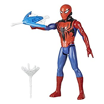 Spider-Man Marvel Titan Hero Series Blast Gear Action Figure Toy with Blaster 2 Projectiles and 3 Armor Accessories for Kids Ages 4 and Up