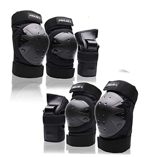 Protective Gear Set for Kids /Youth Knee Pads Elbow Pads Wrist Guards for Skateboarding Cycling Bike BMX Bicycle Scootering 3Pairs