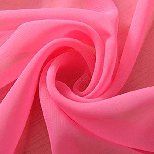 Pure Kleur Voile Gordijn Transparant Tule Bruiloft Landschap Party Deur Drape Panel Sheer 1 pcsW100xH275cm No9voilecurtain