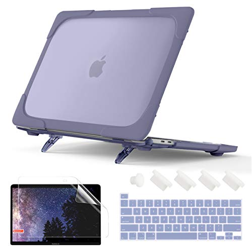 Batianda Shockproof Matte Case for MacBook Pro 13 Inch 2020 A2338 M1 A2289 A2251 with Touch Bar, Heavy Duty Protective Hard Shell Case with Fold...