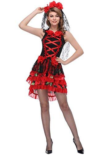 Kostüme Halloween Braut Skelett Tod Geist Sträfling Zombies