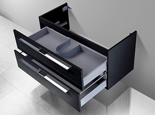 Intarbad ~ Unterschrank für Geberit Keramag iCon Doppelwaschtisch (für 1 Ablauf) 120 cm Grau Matt Lack IB1213