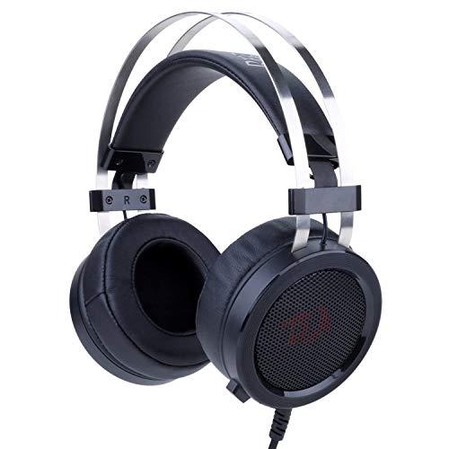 Redragon H901 SCYLLA - Cascos headset para Gaming - Audio de Alta Definición + Potentes Bajos - Auriculares de Diadema con Micrófono para Videojuegos PC, Incluye adaptador estéreo para Móvil, PS4