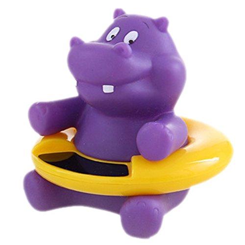 Baby Bath Thermometer Floating Bathtub Toy Hippo