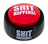 Shit Happens Button - Talking Button Features Hilarious Shit Happens Sayings - Talking Novelty Gift with Funny...