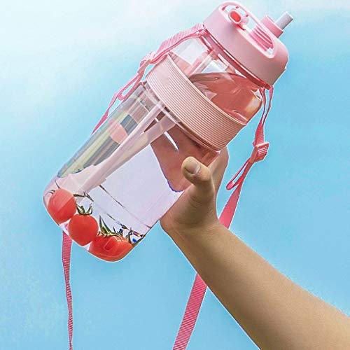 Botella de Agua De gran capacidad de la caldera masculino de plástico olla grande al aire libre portátil de la botella de agua Fitness Deportivo Espacio Caldera Botella de hidro ( tamaño : 700ml )