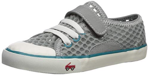 See Kai Run Boys' Saylor Sneaker, Gray/Teal, 8 M US Toddler