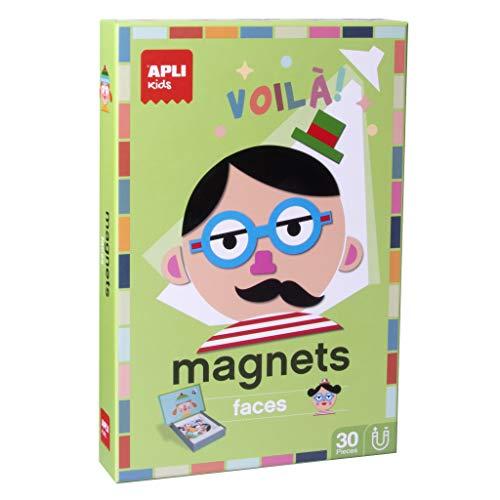 APLI Kids - Caras Juego Magnético, Color Multicolor, 14561