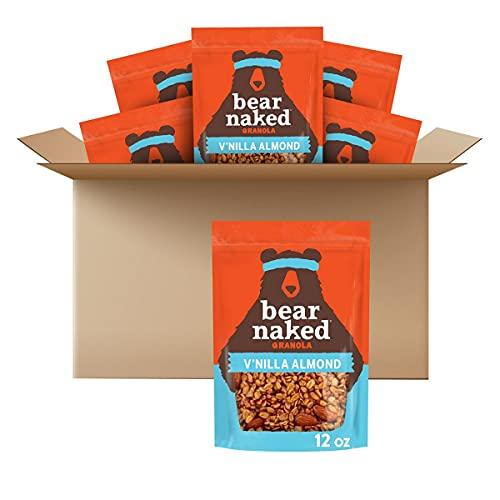 Bear Naked Granola Maple Cinnamon NonGMO Project Verified Grain Free and Gluten Free Bag, Vanilla Almond, 8 Oz (Pack of 6)