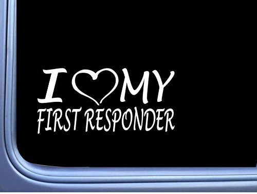 I love my First Responder EMT Decal sticker M190 8' star of life