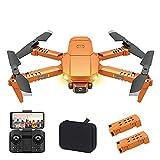 JJDSN HJ78 RC Mini Drone con cámara 4K para niños, Adultos, cámara Dual, retención de altitud, Gestos, Fotos, vídeo, películas en 3D, Seguimiento de Vuelo, cuadricóptero RC con Bolsa de almacenami